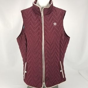 ARIAT Womens XL insulated quilted maroon winter ve